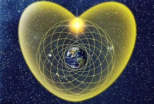 mundo corazón luz