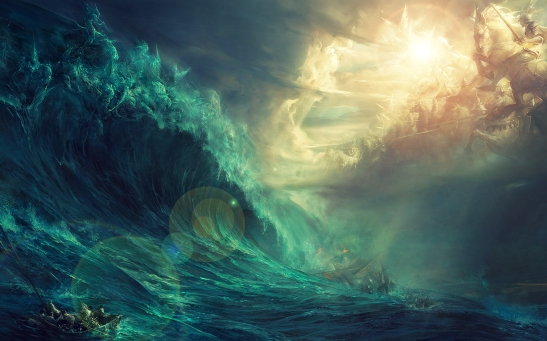 boat-in-stormy-sea-waves-fantasy-wide