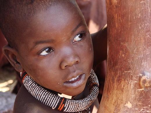 La mirada de un niño africano