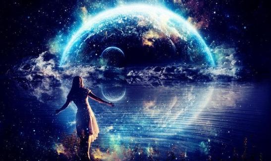 woman-universe-blue-
