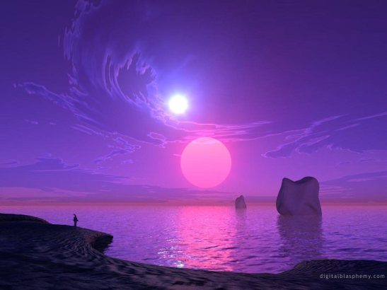 Purple sunset wallpaper-3